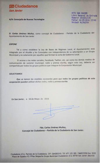 Abc De La Mar Menor Ciudadanos San Javier Exige El Fin Del Uso Partidista De Las Redes Sociales Radio Y Prensa Escri Prensa Escrita Redes Sociales Ciudadanos