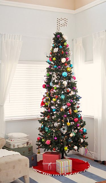 Super Tall Skinny Charming Christmas Tree Christmas New Year