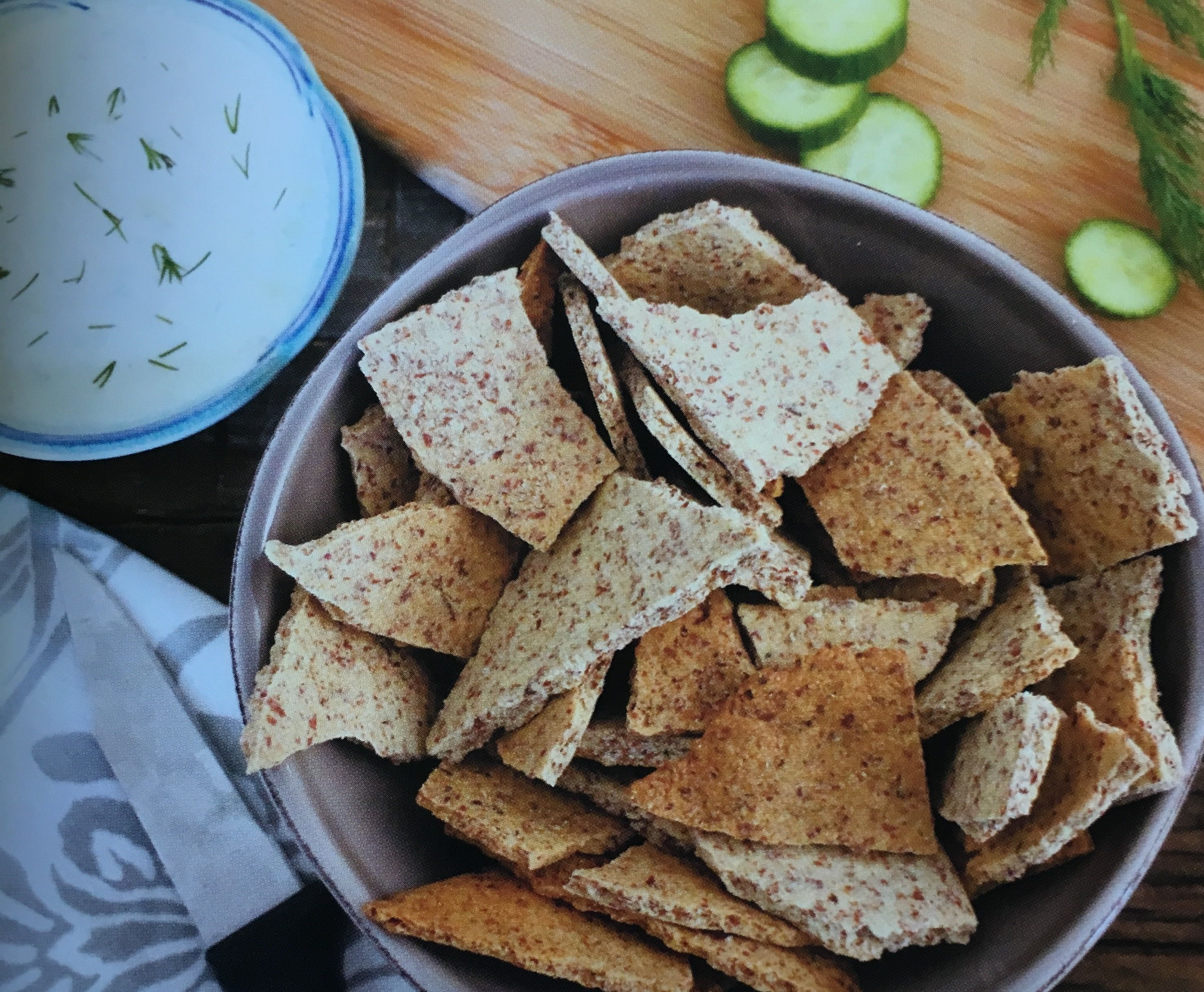 Almond meal pita chips #eathappy