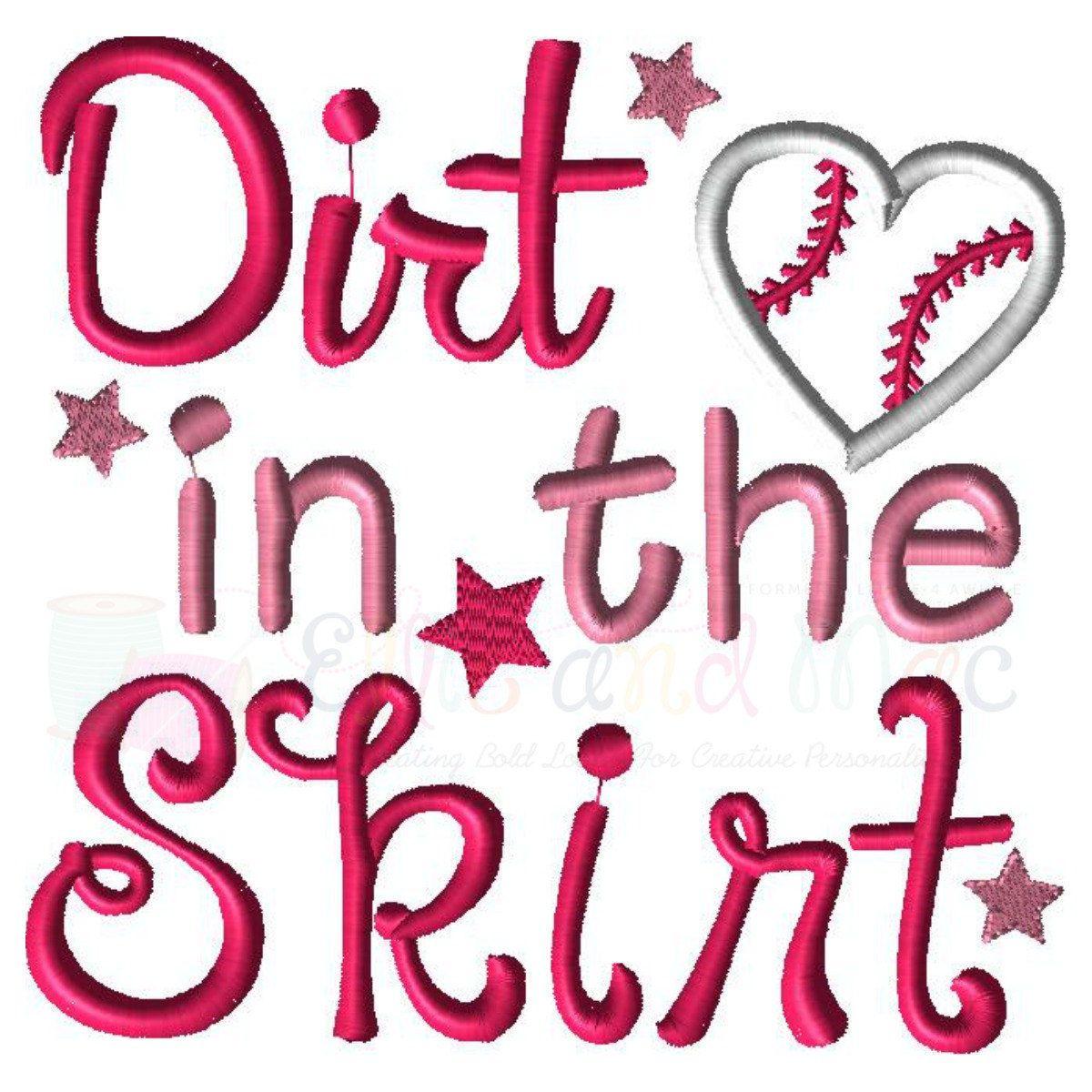 Baseball Design Baseball Embroidery Design Dirt In The Skirt