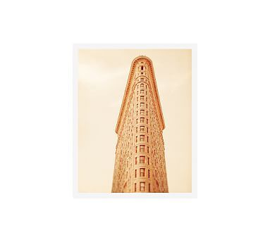"The Flatiron Framed Print By Tracey Capone, 16x20"", Wood Gallery Frame, White, No Mat"