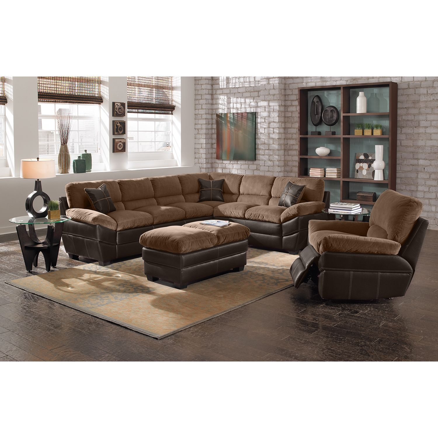 Chandler Upholstery 2 Pc Sectional Value City Furniture