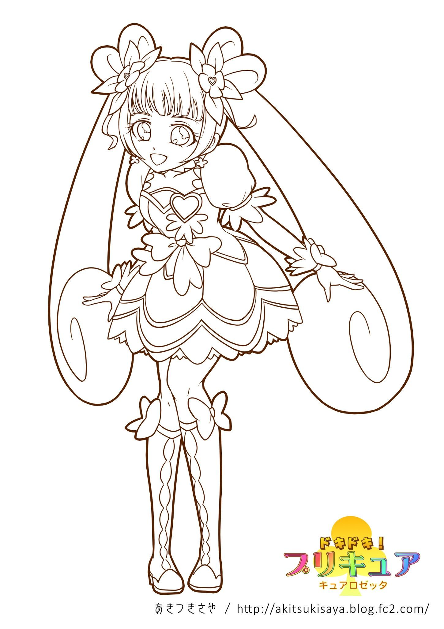 glitter force doki doki coloring pages Doki Puri Nuri / Coloring Pages | Coloring Pages *Deviant Artists  glitter force doki doki coloring pages