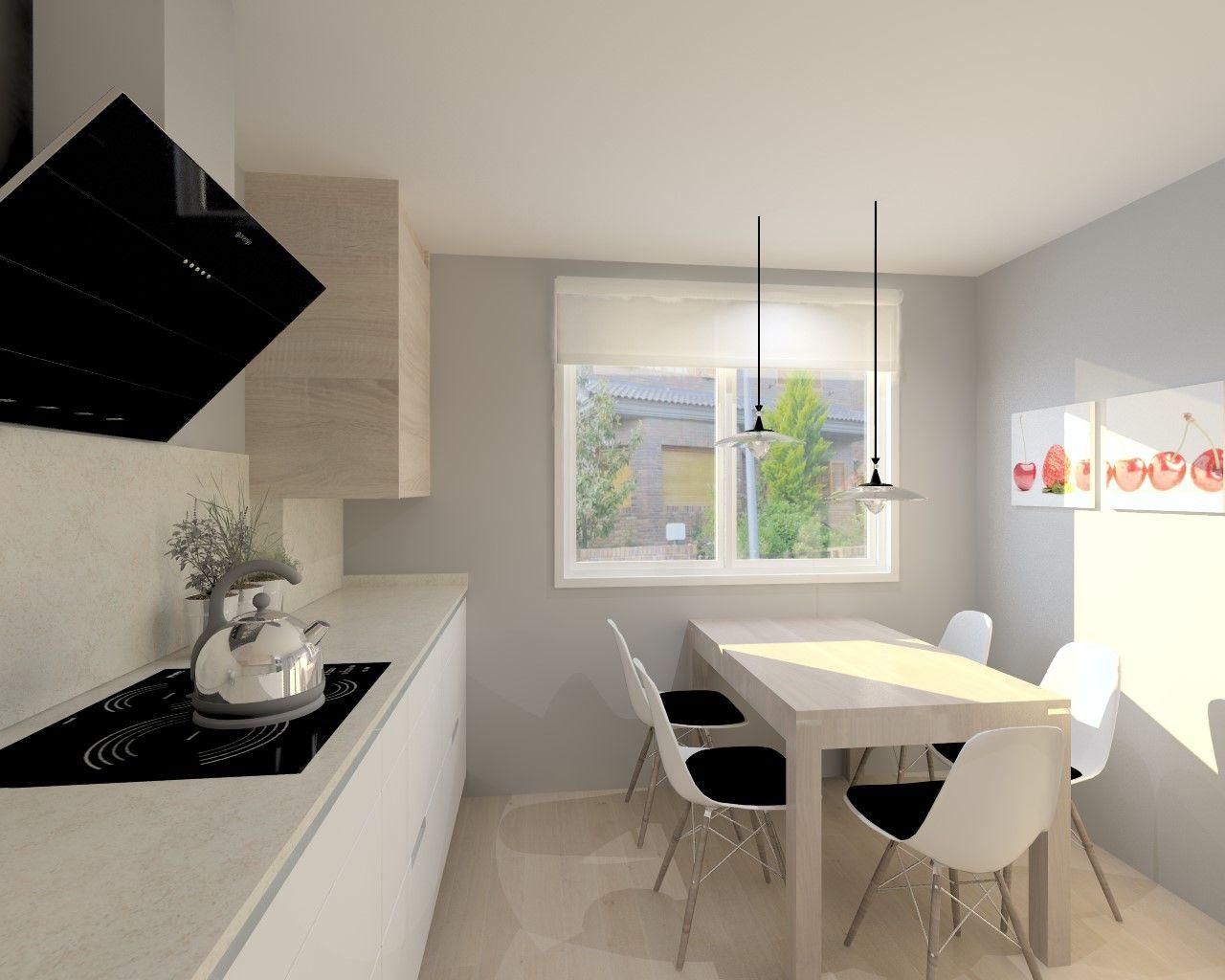 Cocina santos modelo minos l blanco seda encimera granito - Granito para cocinas ...