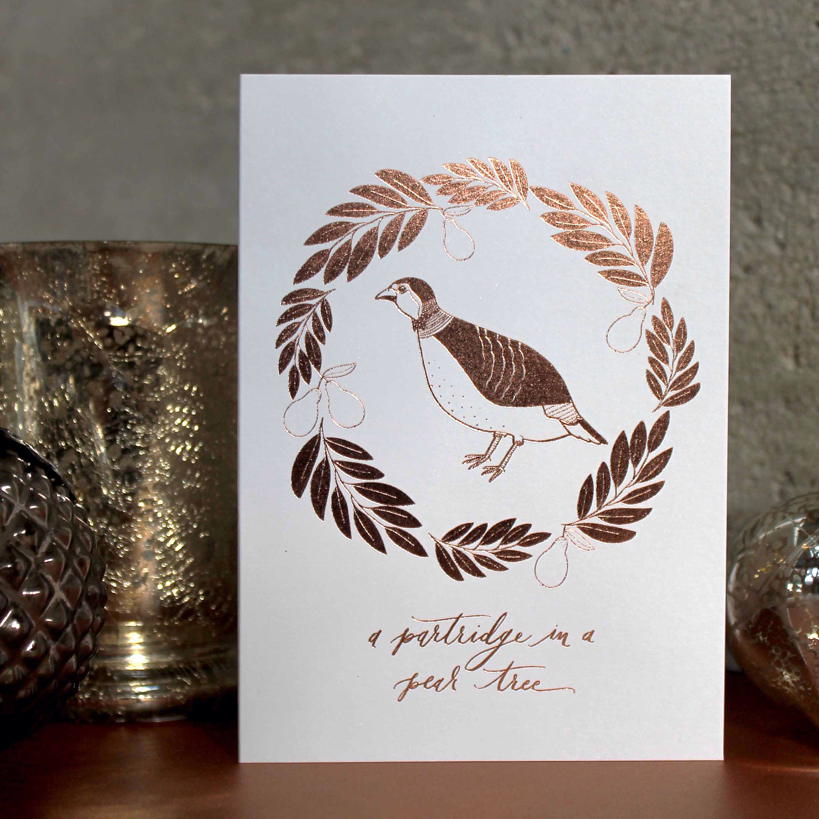 Copper foil greetings card partridge in a pear tree set of five copper foil greetings card partridge in a pear tree set of five luxury christmas cards kristyandbryce Images
