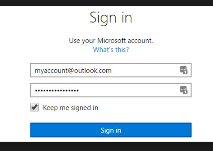 Outlook Account Sign In Login My outlook Account Sign in