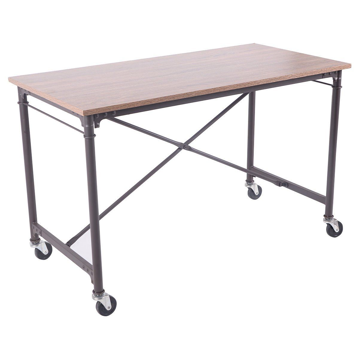 Tangkula computer desk laptop writing table melamine surface wheels