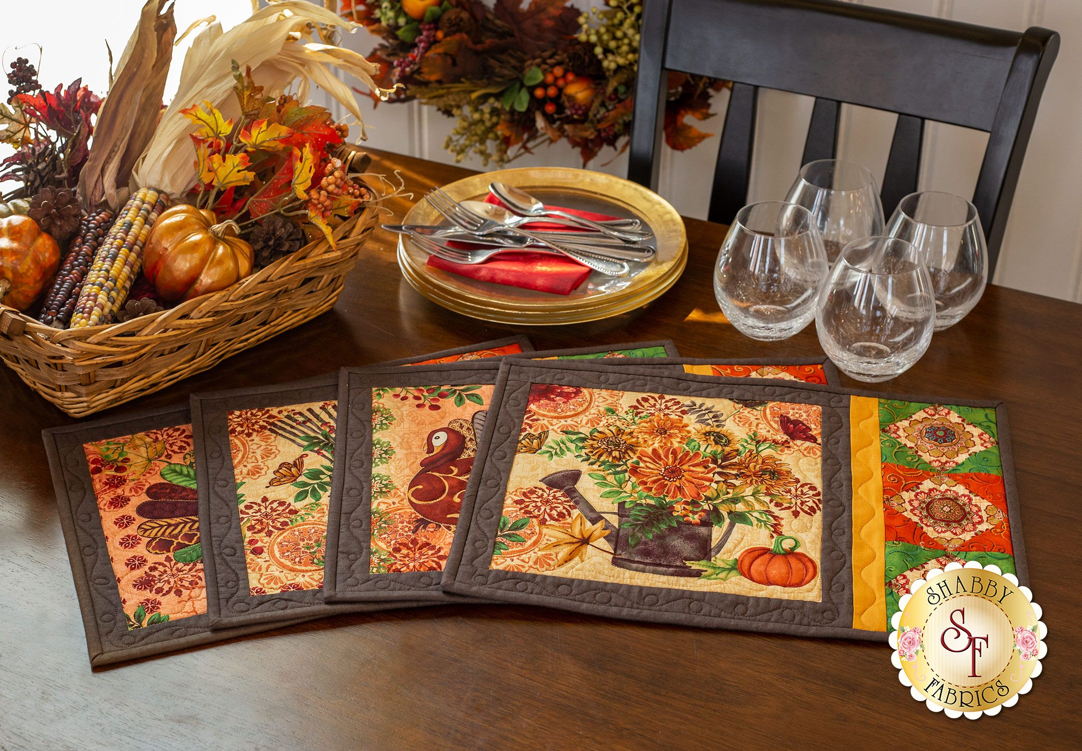 Fall Festival Placemats Kit Fall Placemats Placemats Shabby Fabrics