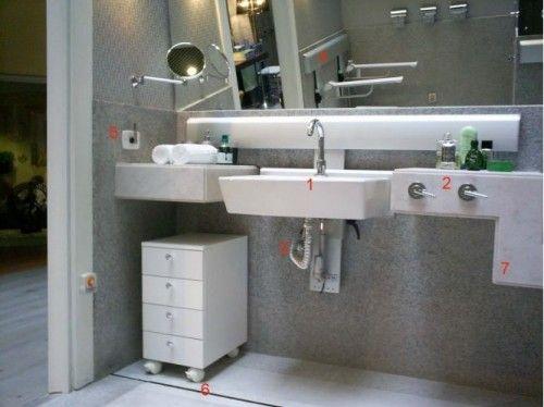 Banheiro Adaptado  banheiros  Pinterest  Banheiros, Google e Acessibilidade -> Banheiro Pequeno Adaptado