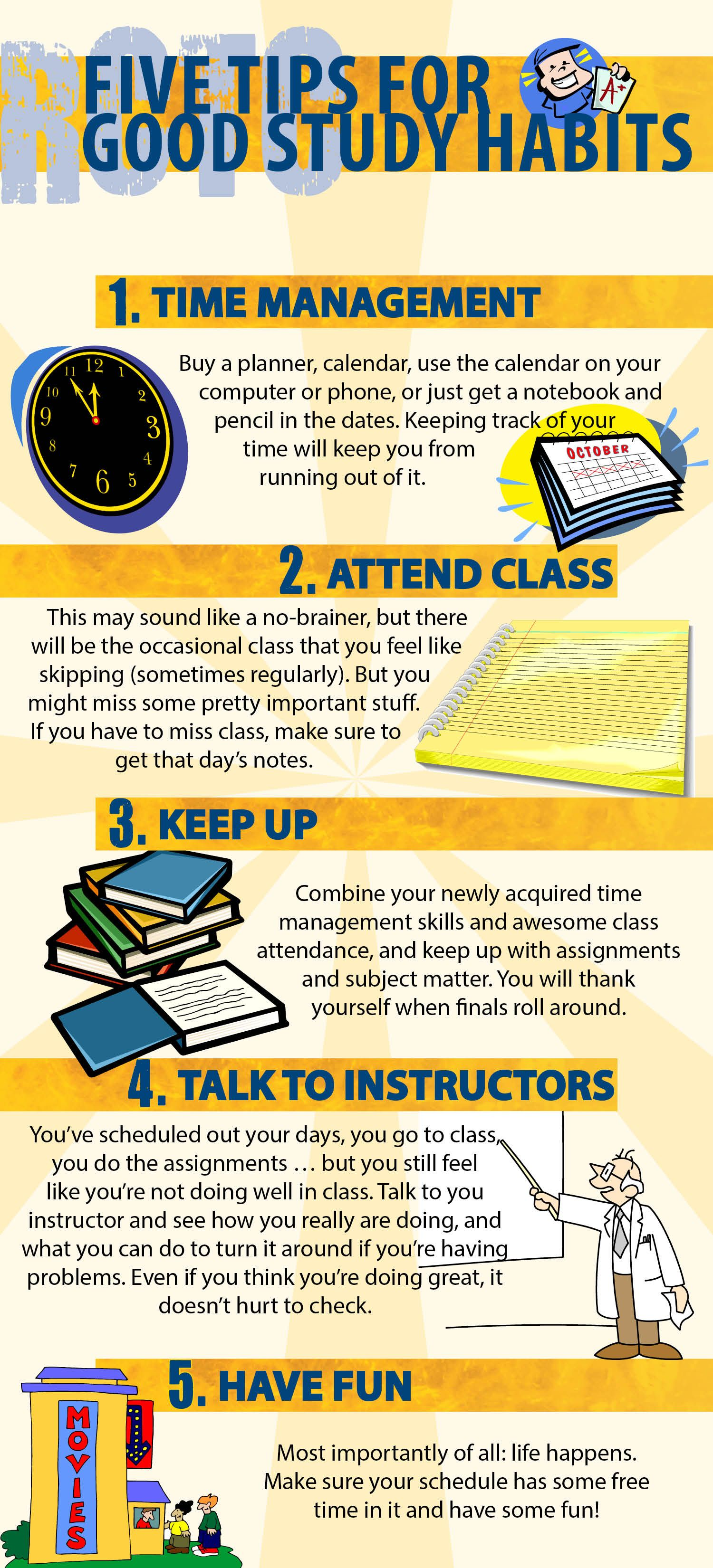 Five Tips For Good Study Habits Students Tips Good Study Habits Study Habits School Study Tips