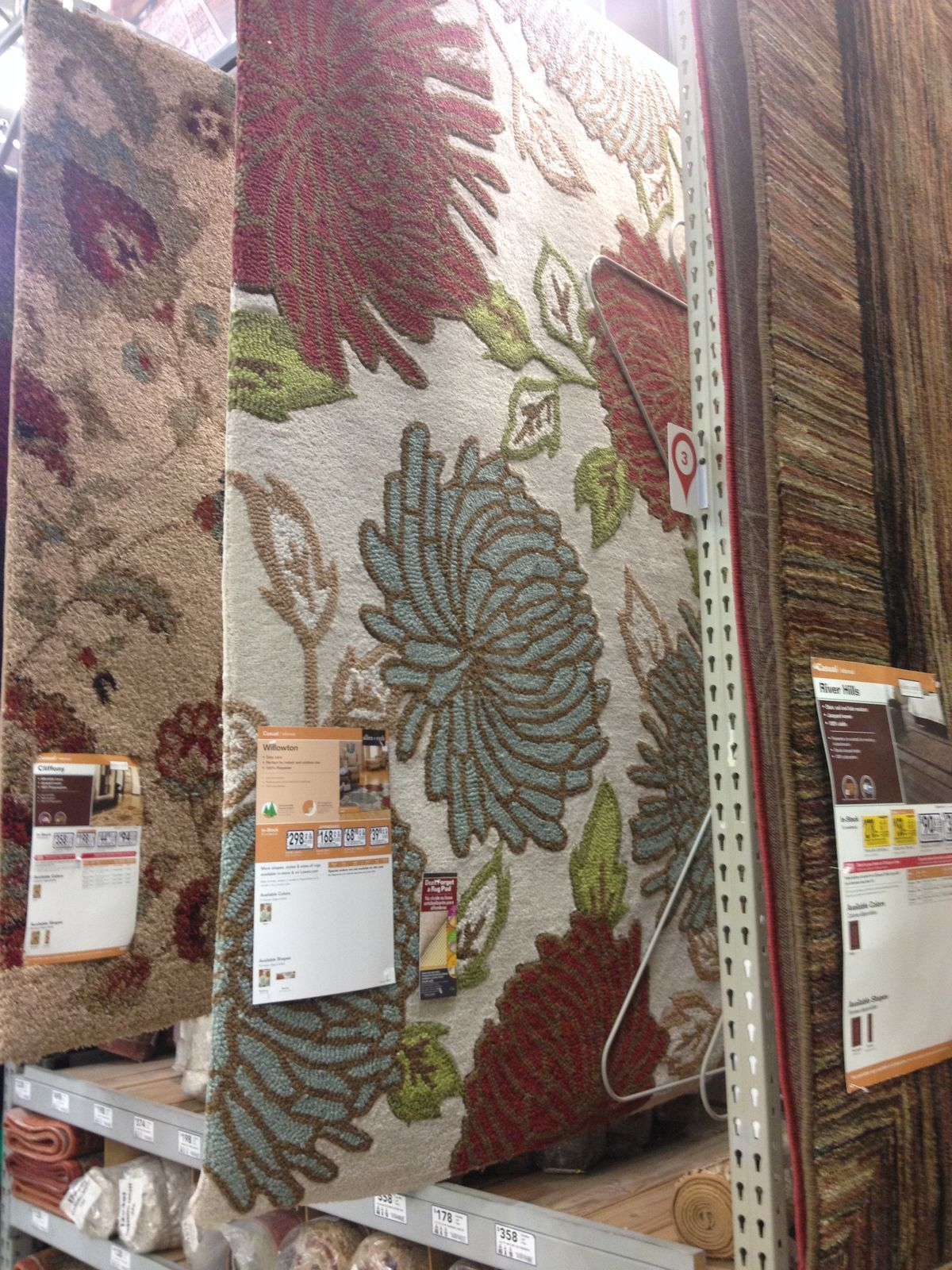 This is the rug I tried to at 3 Lowes stores this past weekend