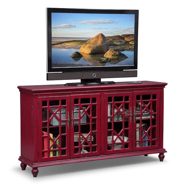 Accent And Occasional Furniture   Grenoble Media Credenza   Red