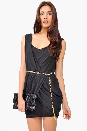 All Chained Up Dress - Black