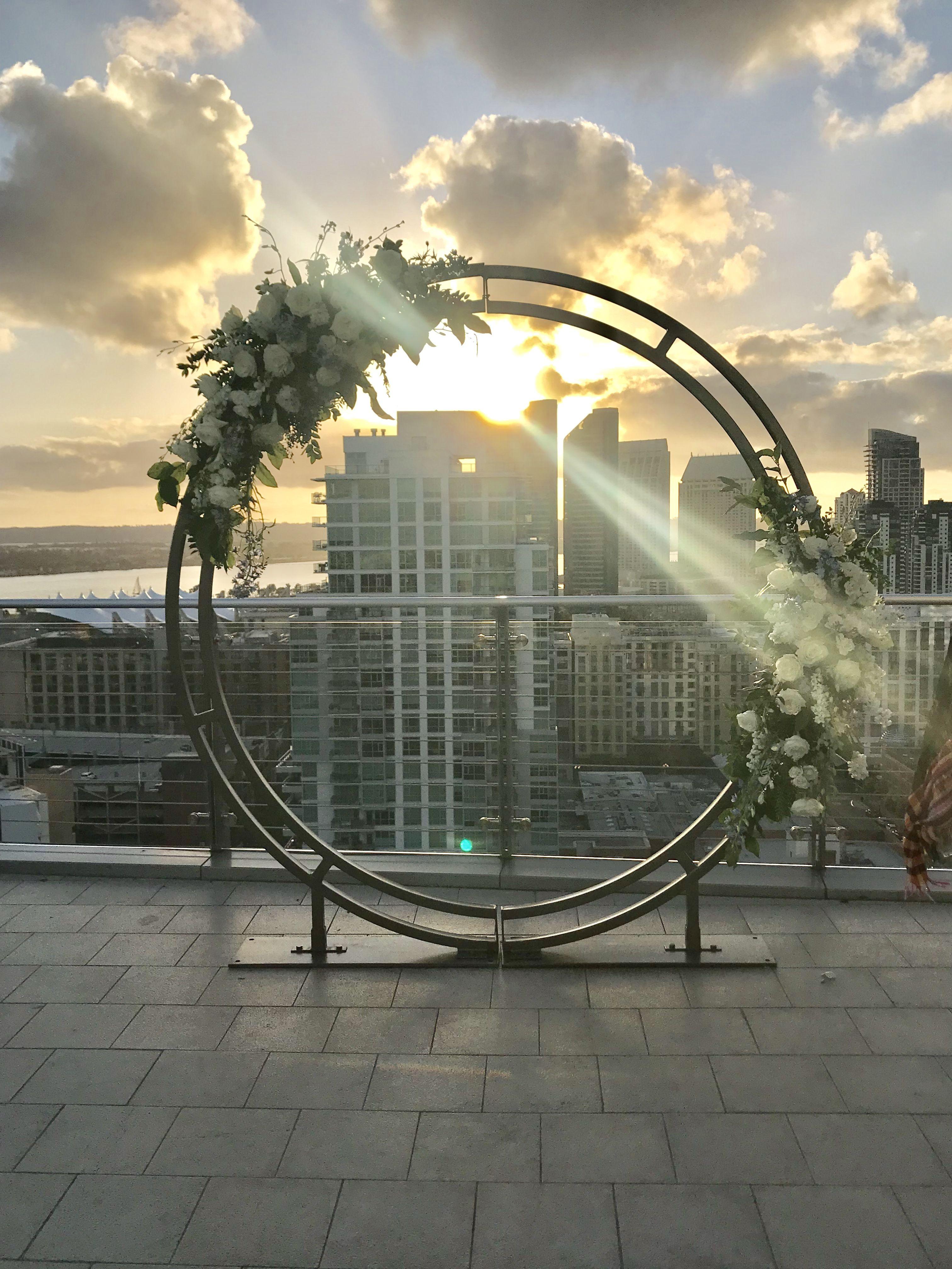 Circle c arch 1 wedding ceremony arch wedding arch