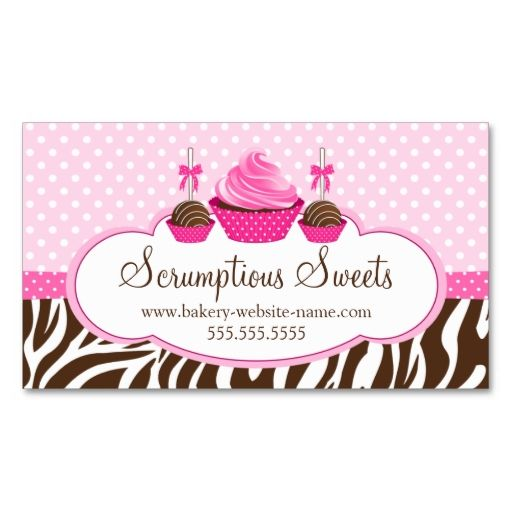 Cupcake and cake pops bakery business cards make your own business cupcake and cake pops bakery business cards make your own business card with this great reheart Choice Image