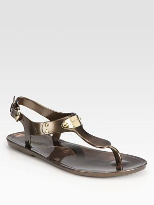 29eccdbb6a860a MICHAEL MICHAEL KORS Jelly Slingback Thong Sandals..in either white ...