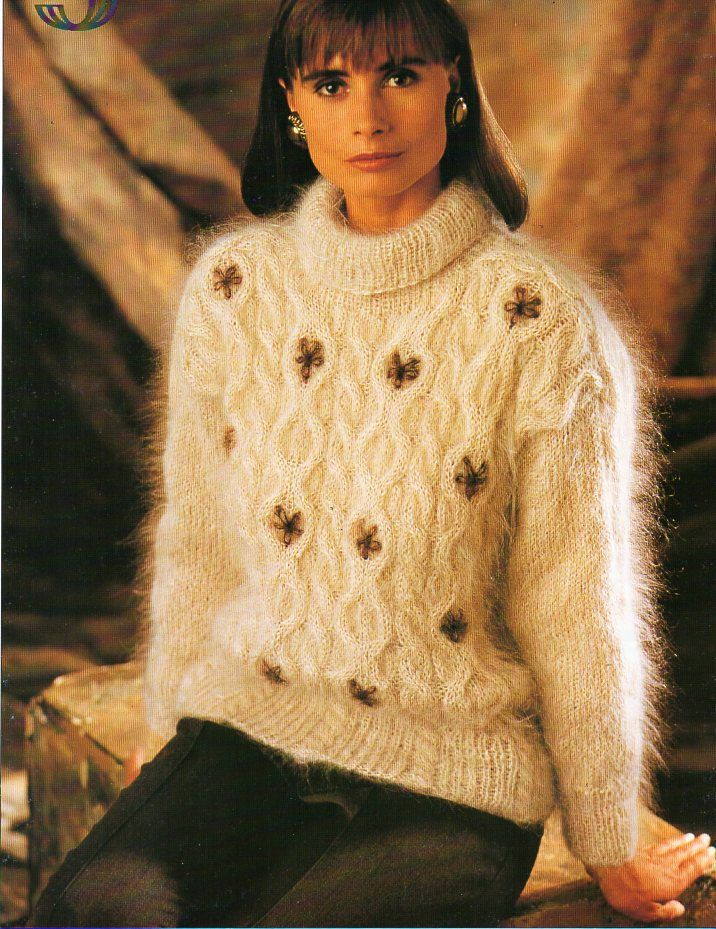 Womens Knitting Pattern Pdf Womens Mohair Sweater Ladies Fluffy