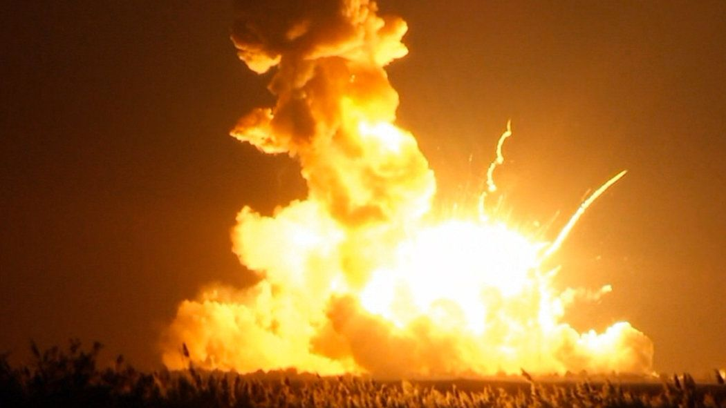 New York Times: Oct. 29, 2014 - Unmanned Antares rocket, bound for space station, explodes on takeoff