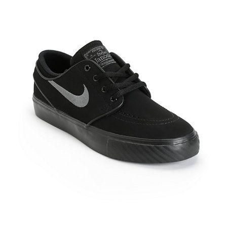 timeless design 97e33 467d1 Nike SB Zoom Stefan Janoski Mono Black   Anthracite Skate Shoes at Zumiez    PDP