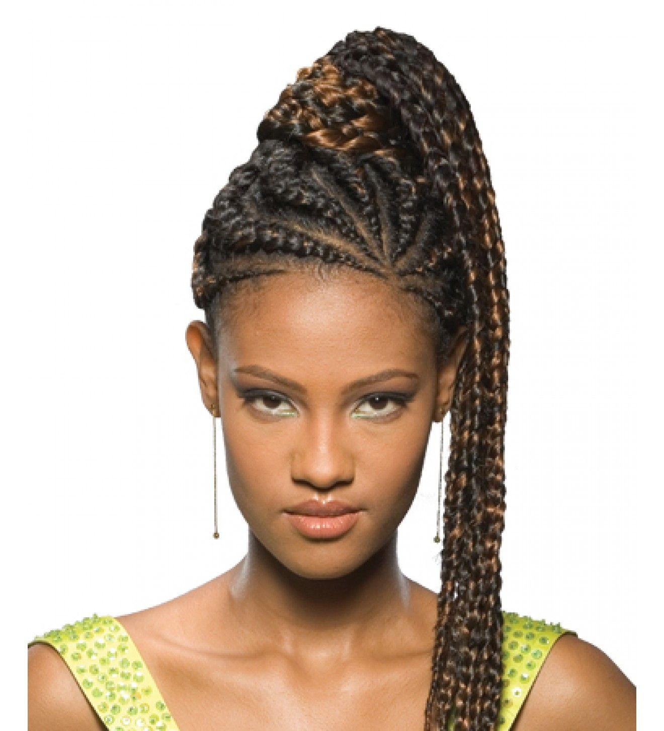 Natural Hairstyles Ponytails Fake Braided Pony Tails For Black Women Freetress Equal