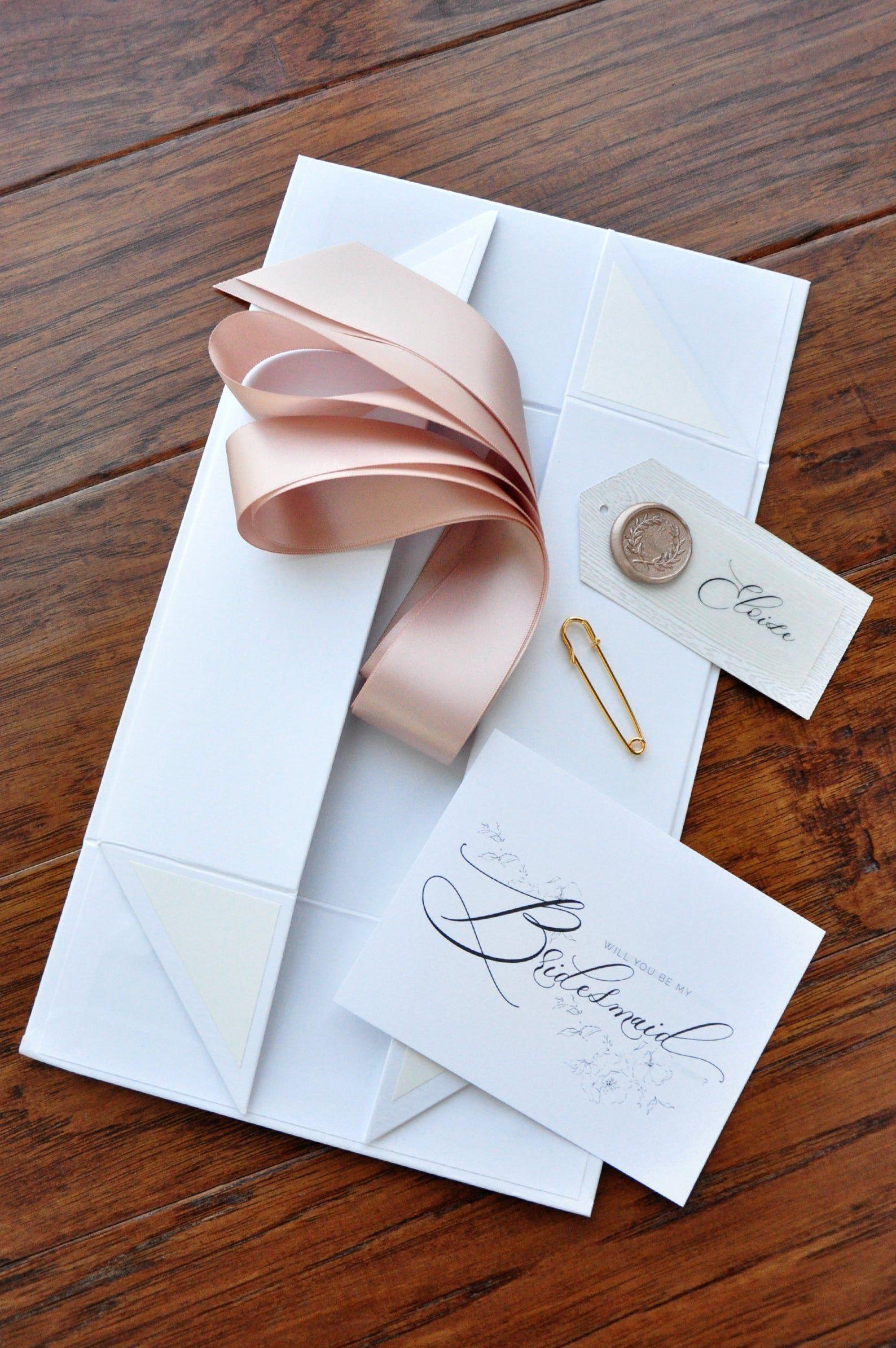 Bridesmaid box qty 1 unfilled box bridesmaid proposal