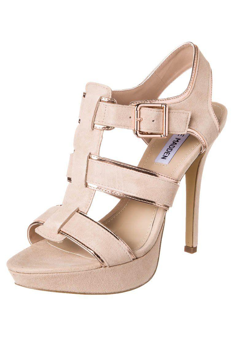 Steve Madden - TESSYY - Højhælede sandaletter / Højhælede sandaler - beige