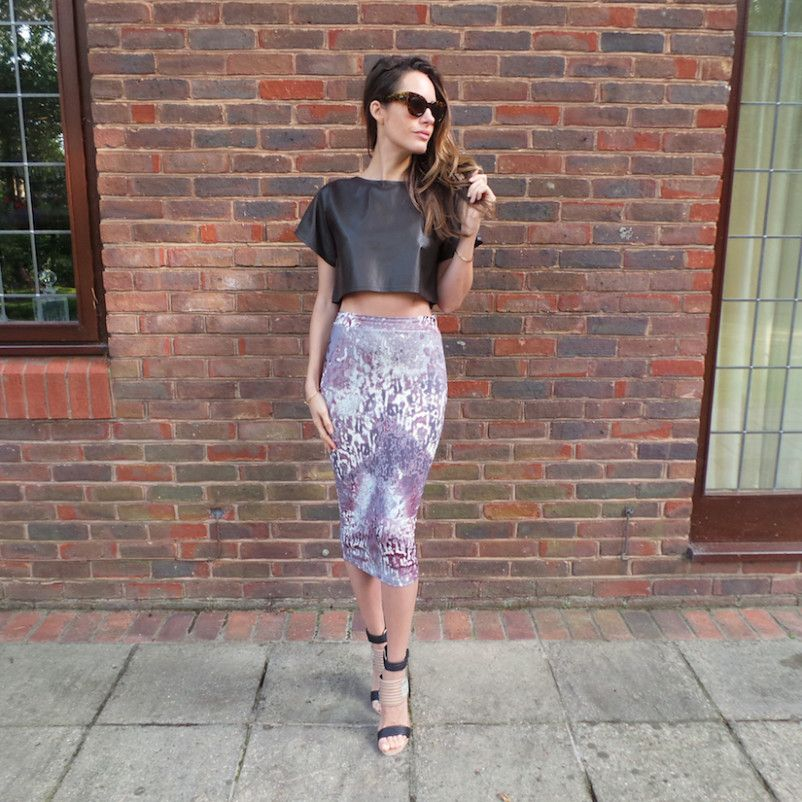How To: Wear A Printed Pencil Skirt | summer 2014 trends | Front Roe, a fashion blog by Louise Roe