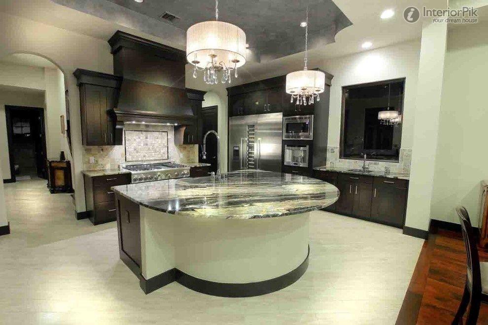 Modern Open Plan Kitchen Bar Design Pictures (