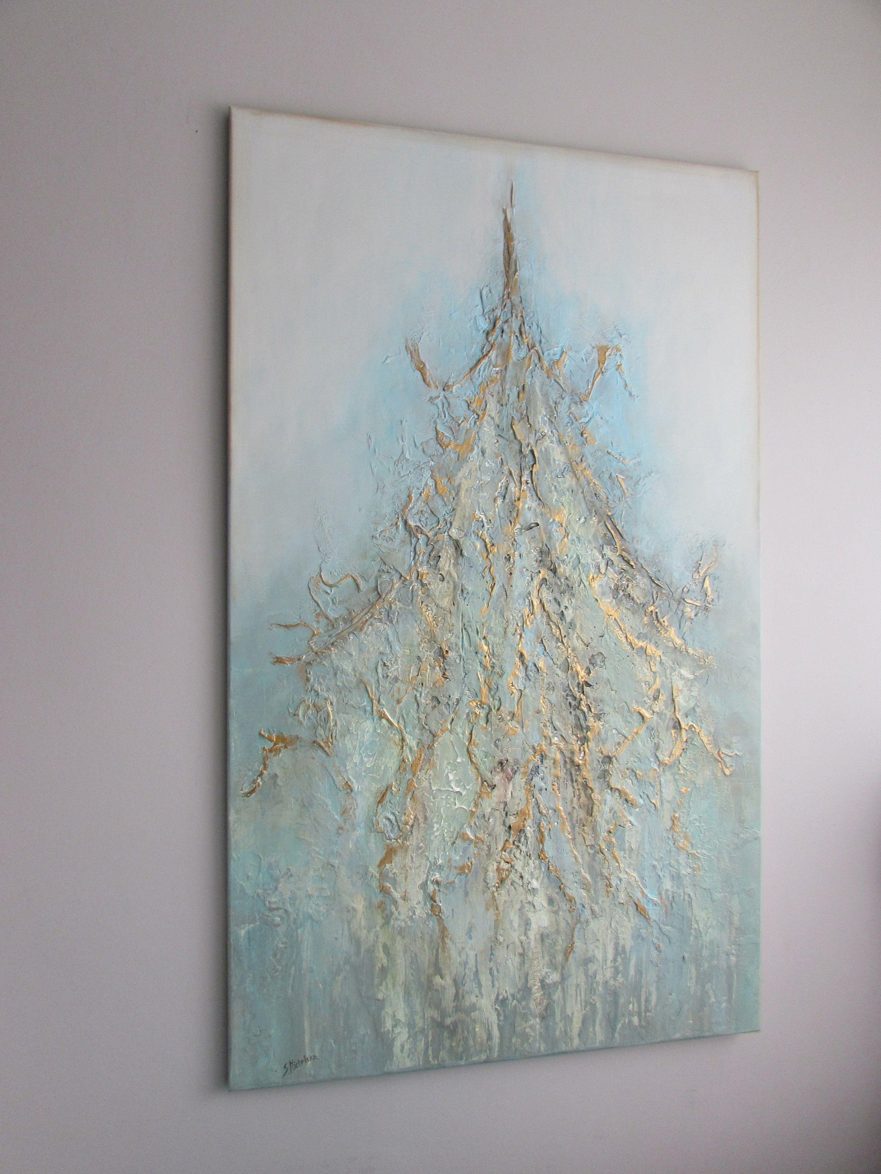 Złoto w obrazach - malarstwo strukturalne Sylwia Michalska