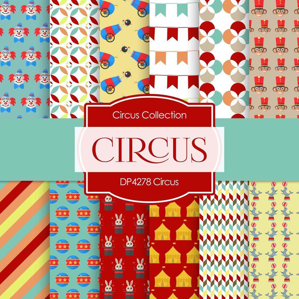 Circus Digital Paper Dp