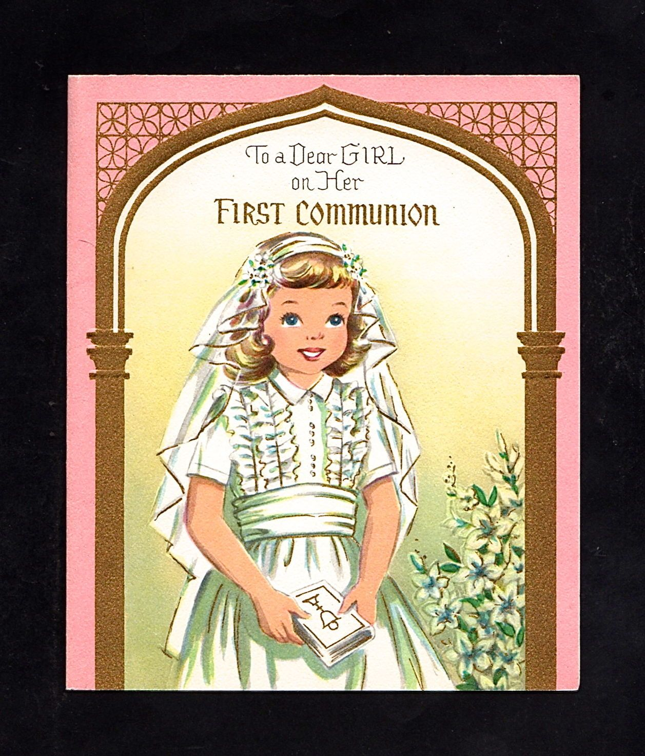 First Communion Card for a Girl ~ (FC 21)