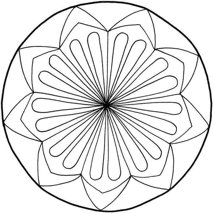 mandalas zum ausdrucken tolle blumenmandalavorlage zum