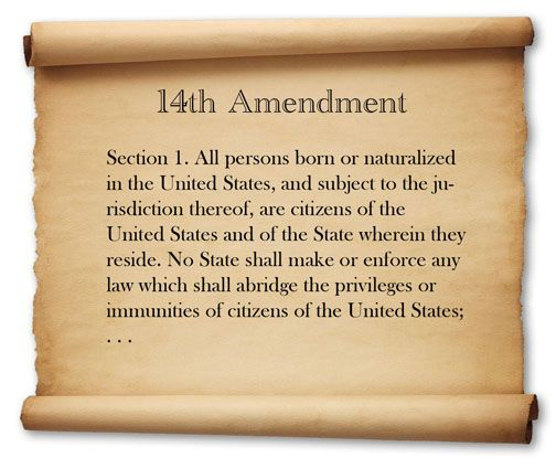 Image result for the 14th amendment was adopted in 1868