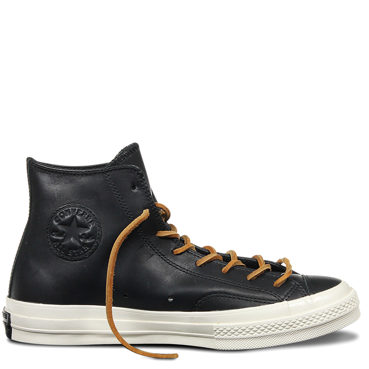 769138211ab0 Chuck Taylor All Star 70 Premium Leather Black Egret - Sneakers - Men