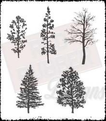 Tree Silhouettes Rubber Stamp Set