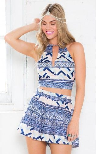 The Island Two Piece Set in Multi Tribal