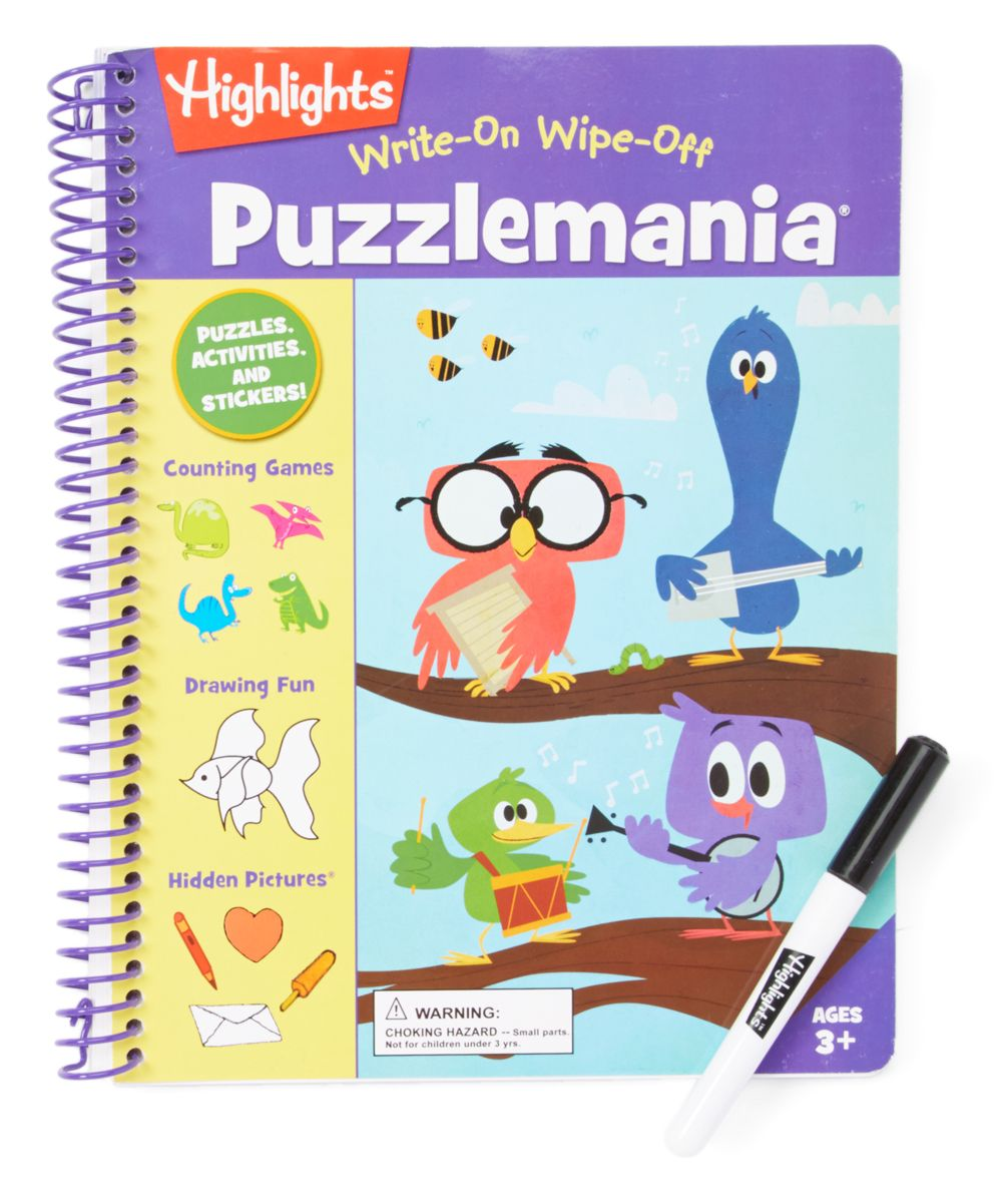 Highlights Write and Wipe Puzzlemania Paperback Writing