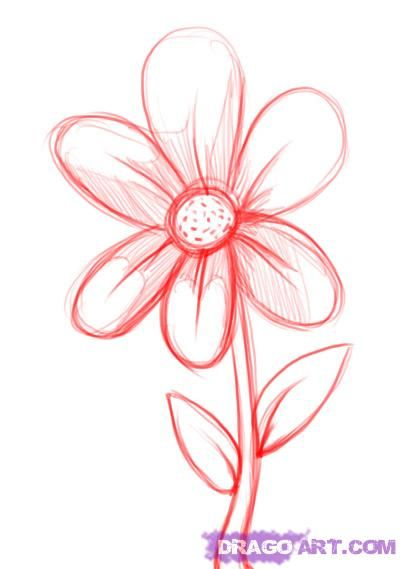 simple drawings of flowers - Google Search