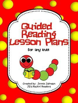 Guided Reading Lesson Plan Template For Any Level FREEBIE This - Guided reading lesson plan template 4th grade