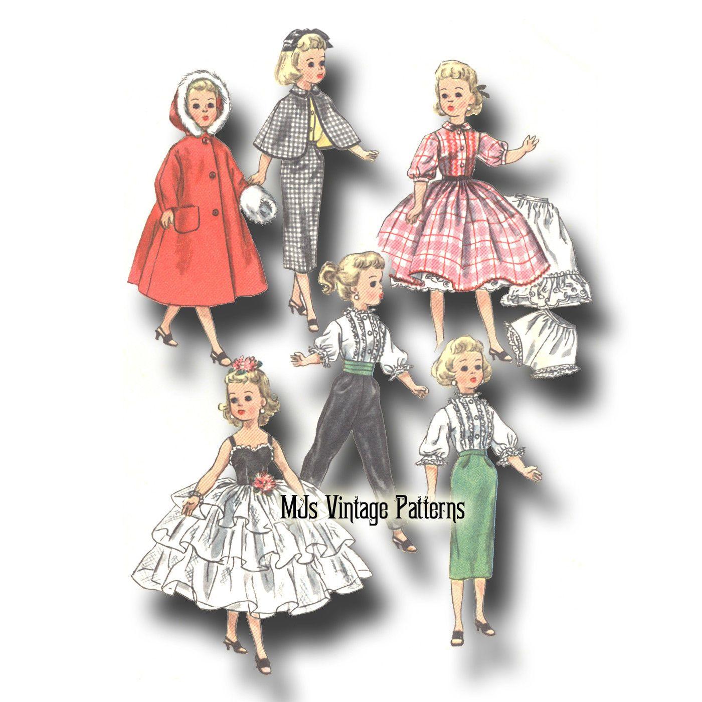 "14/"" Toni Miss Revlon Doll Clothes Vtg 50s Pattern ~ Dress for 15/"" Sweet Sue"