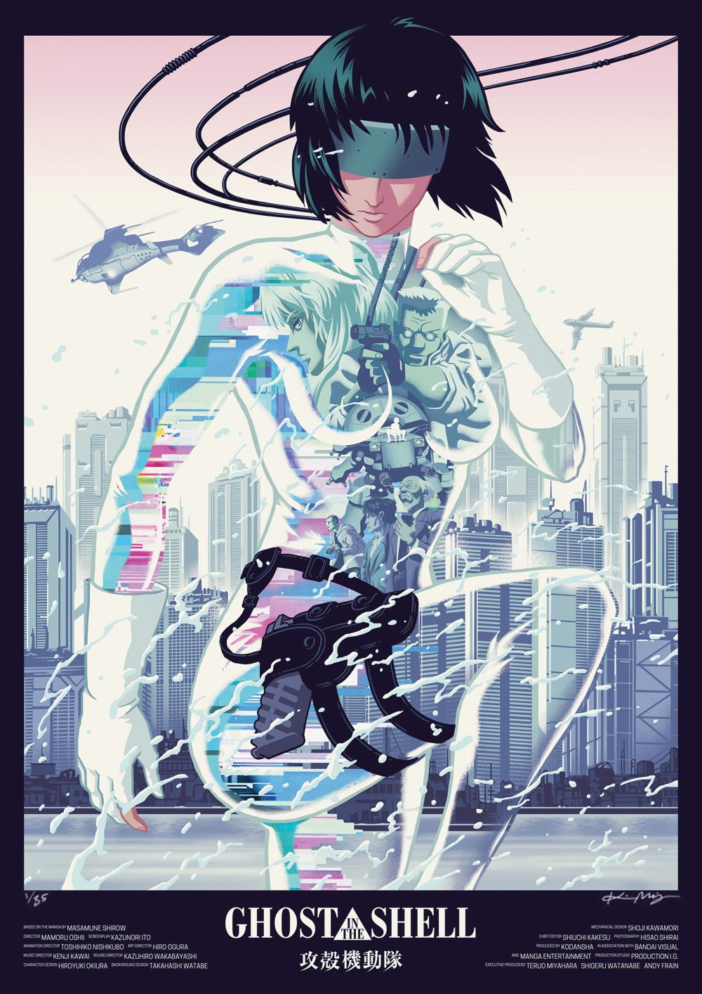 Supersonic Art Kristin Miklos X Ghost In The Shell Artist Ghost In The Shell Anime Cyberpunk Art