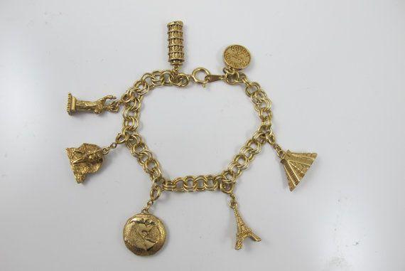 Vintage Charm Bracelet Ravello Beverly Hill by TonettesTreasures
