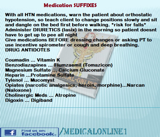 Medication Suffixes Caine  Local Anesthetics Done  Opioid