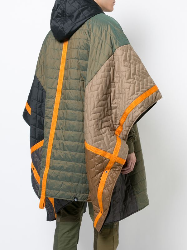 Quilted padded poncho