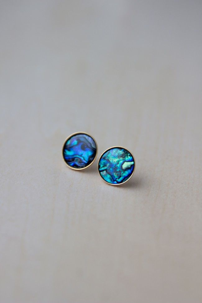 Abalone S Stud Earrings Via Sarah Johnson