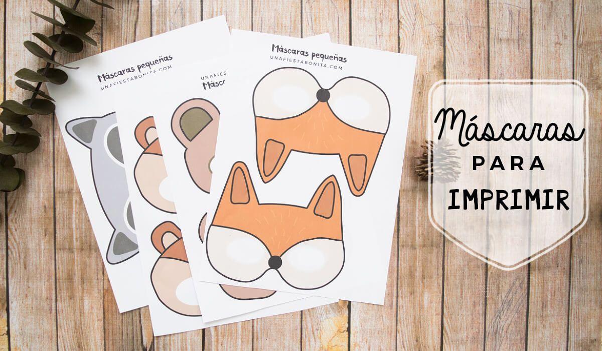 Imprimibles de mascaras para fiestas bosque | Nietos | Pinterest ...