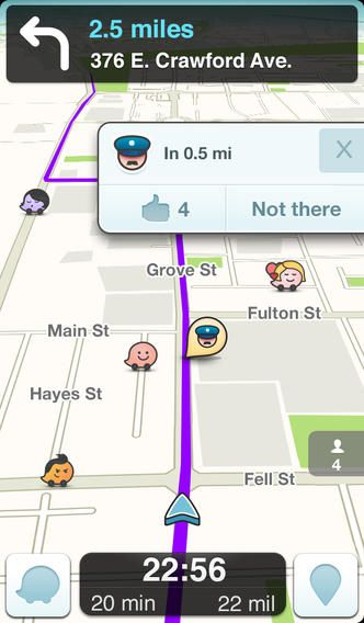 Top Free iPhone App 77 Waze Social GPS, Maps & Traffic