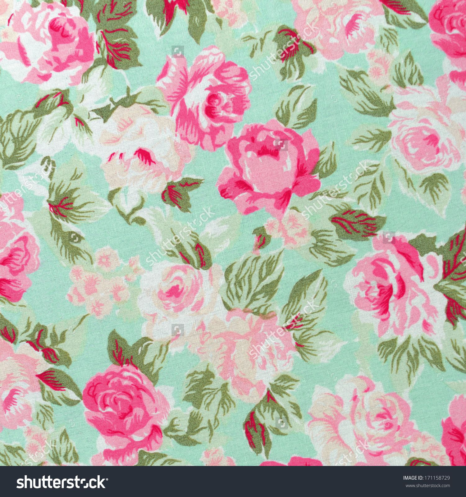 Stock Photo Seamless Retro Background With Roses 171158729