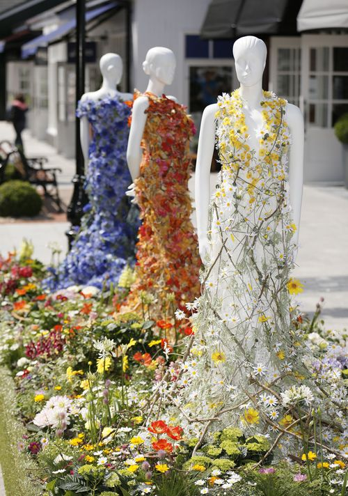 Beautiful floral dresses created by Joe Massie for the Chic Summer Festival at Kildare Village