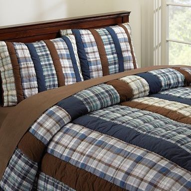 Hudson Plaid Quilt & Sham - traditional - kids bedding - PBteen ... : plaid comforters and quilts - Adamdwight.com